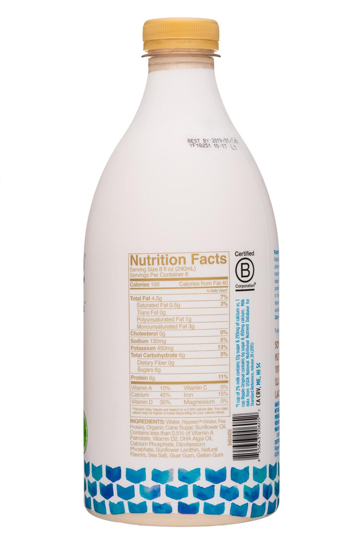Ripple Foods: Ripple-48oz-PeaMilk-Original-Facts