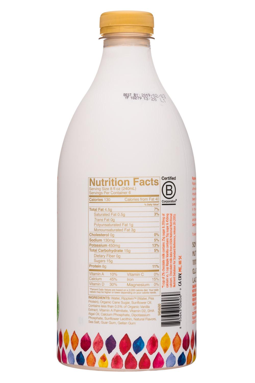 Ripple Foods: Ripple-48oz-PeaMilk-Vanilla-Facts