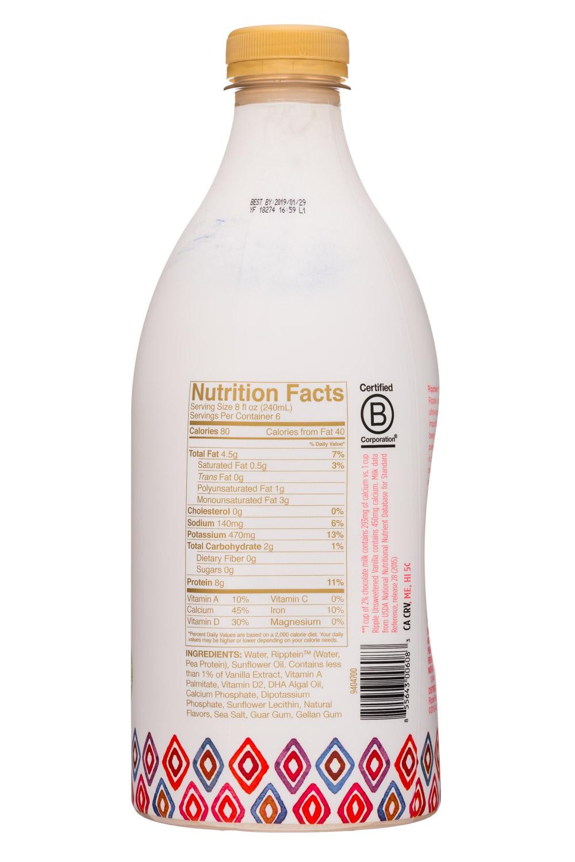 Ripple Foods: Ripple-48oz-PeaMilk-UnsweetVanilla-Facts