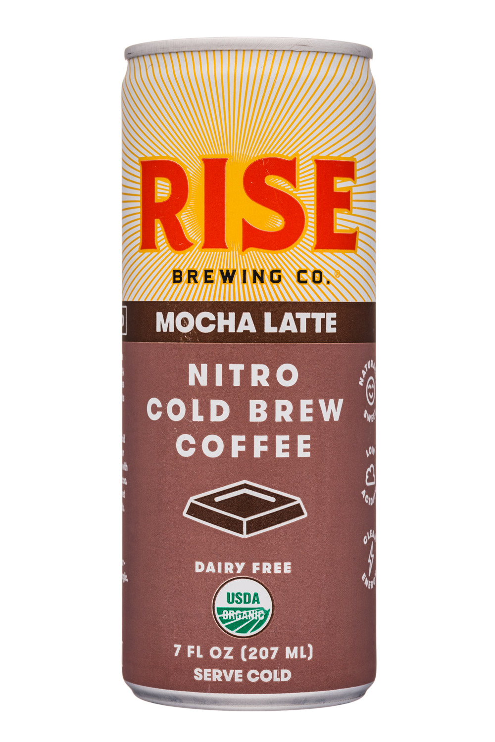 Rise Brewing Co.: Rise-7oz-NitroLatte-Mocha-Front