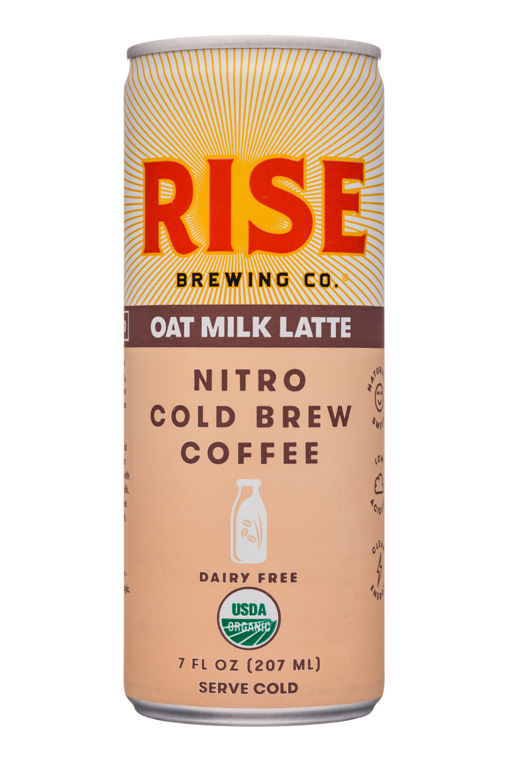 Rise Brewing Co.: Rise-7oz-NitroLatte-OatMilk-Front