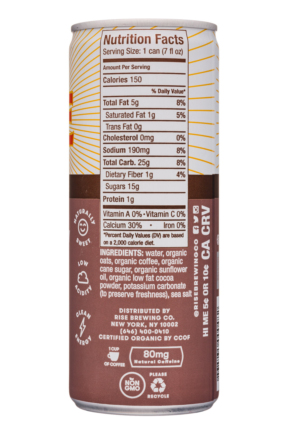 Rise Brewing Co.: Rise-7oz-NitroLatte-Mocha-Facts