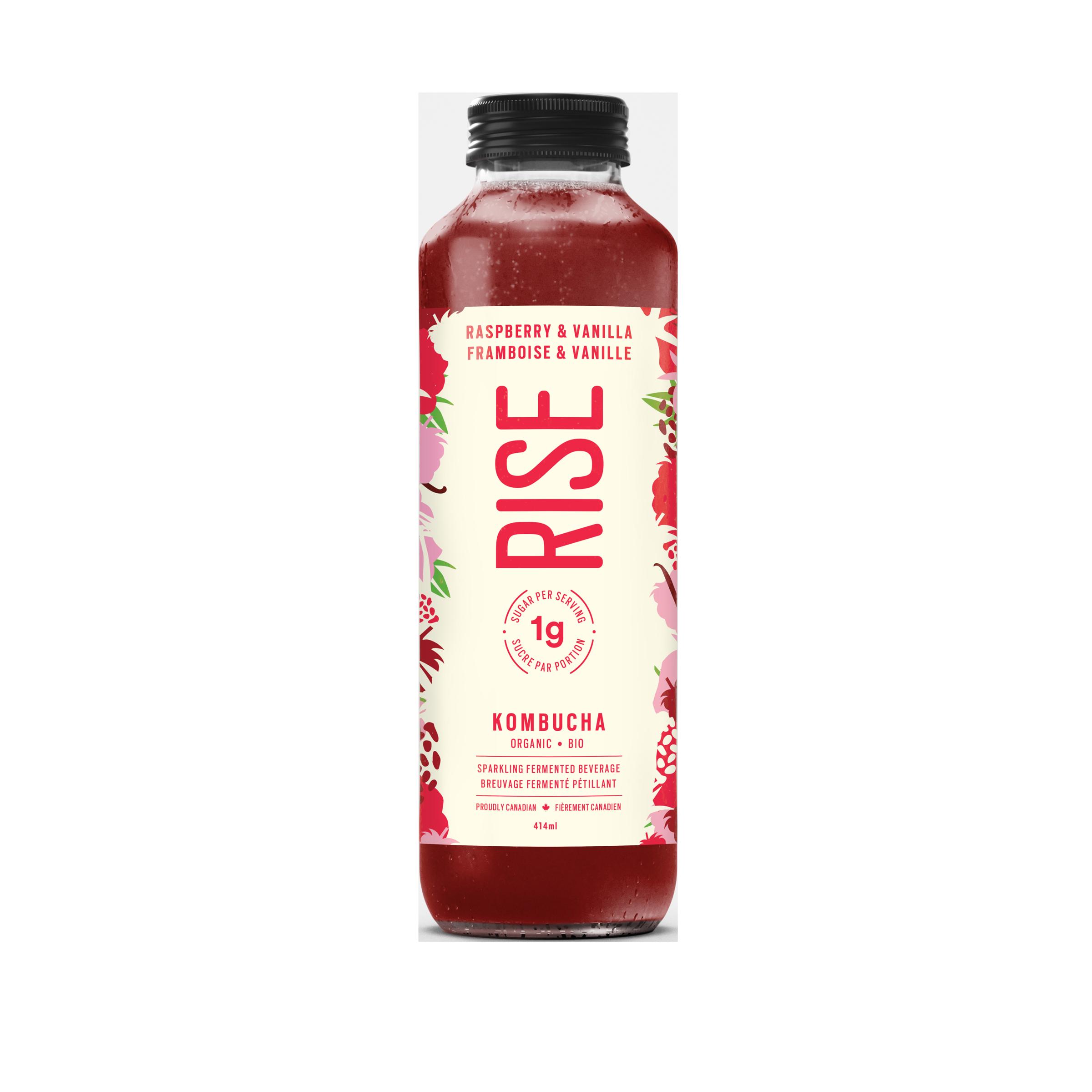 RISE Kombucha Raspberry & Vanilla
