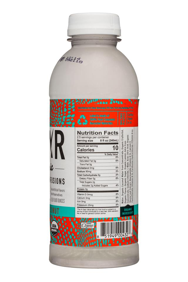 Roar: Roar-Organic-17oz-Electrolyte-StrawberryCoconut-Facts