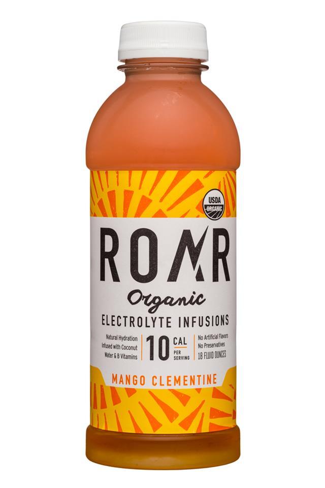 Roar: Roar-Organic-18oz-Electrolyte-MangoClementine-Front