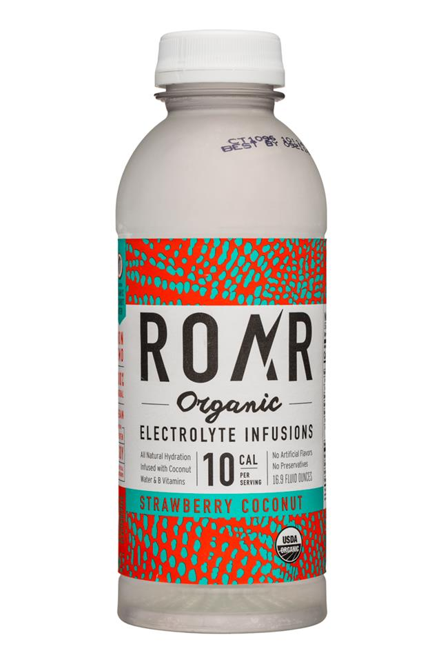 Roar: Roar-Organic-17oz-Electrolyte-StrawberryCoconut-Front