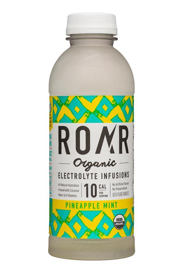 Roar: Roar-Organic-17oz-Electrolyte-PineappleMint-Front