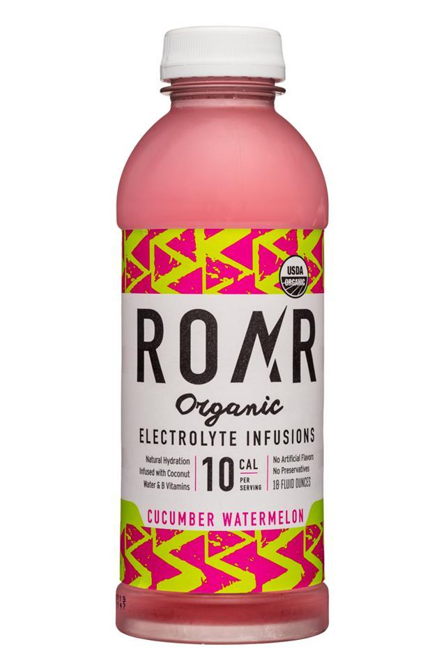 Roar: Roar-Organic-18oz-Electrolyte-CucumberWatermelon-Front