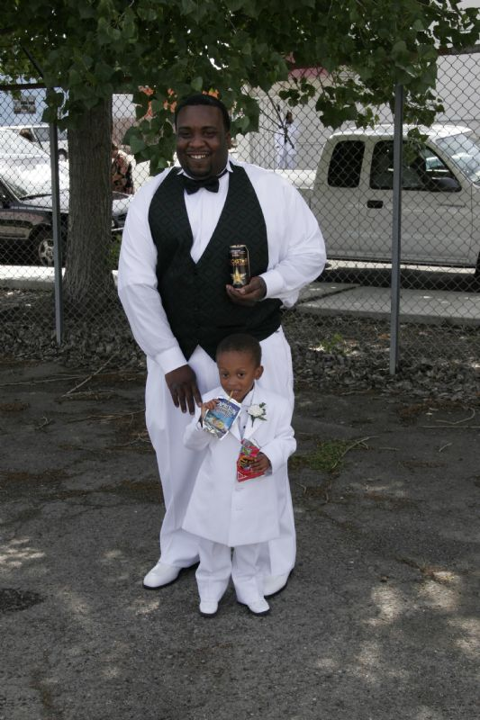 Rockstar Energy Drink: me and my son on my wedding day