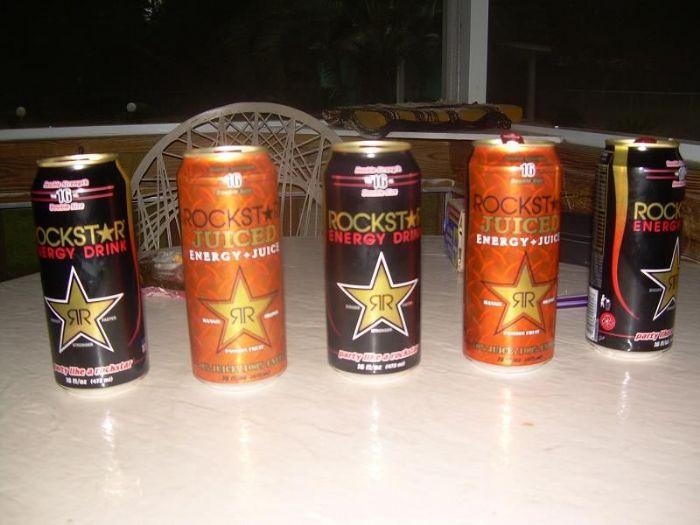 Rockstar Energy Drink: 5 Rockstar cans