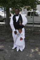 me and my son on my wedding day