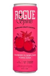 Sparkling Craft Cocktail - Cranberry Elderflower Vodka Soda