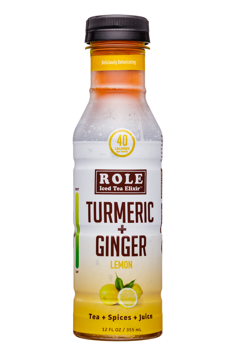 Role Tea: Role-12oz-IcedTeaElixer-TurmericGinger-Lemon-Front