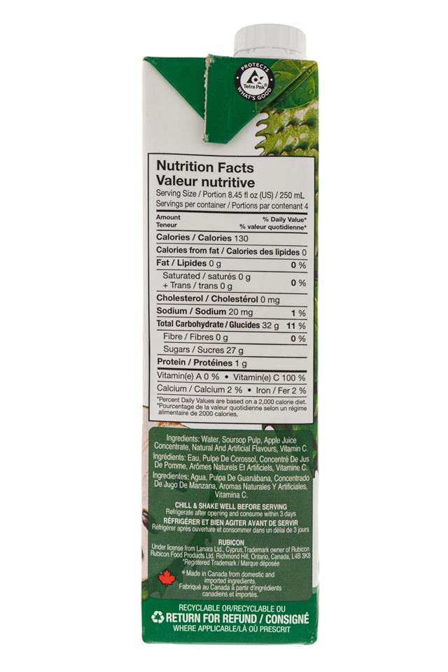 Rubicon: Rubicon-1Liter-Box-Soursop-Facts