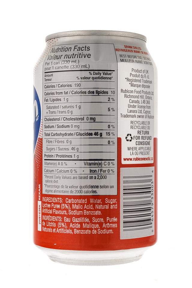 Rubicon: Rubicon-11oz-Can-Litchi-Facts