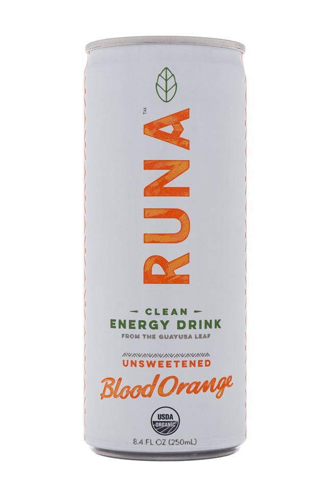 Runa Clean Energy: Runa-Energy-BloodOrange-Front