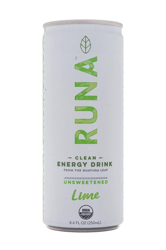 Runa Clean Energy: Runa-Energy-Lime-Front