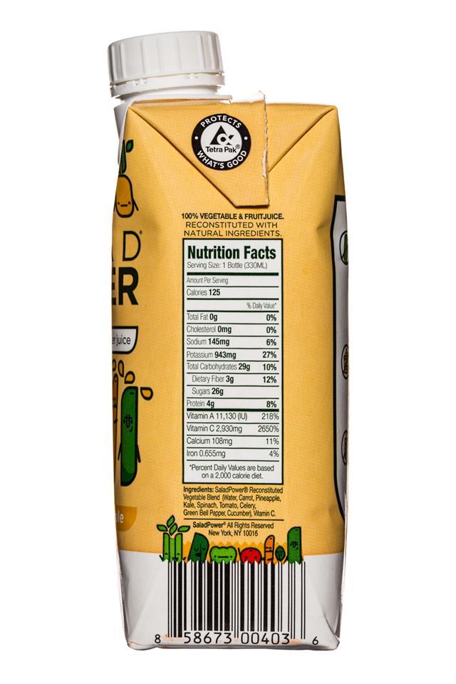 Salad Power: SaladPower-11oz-VeggiesPineapple-facts