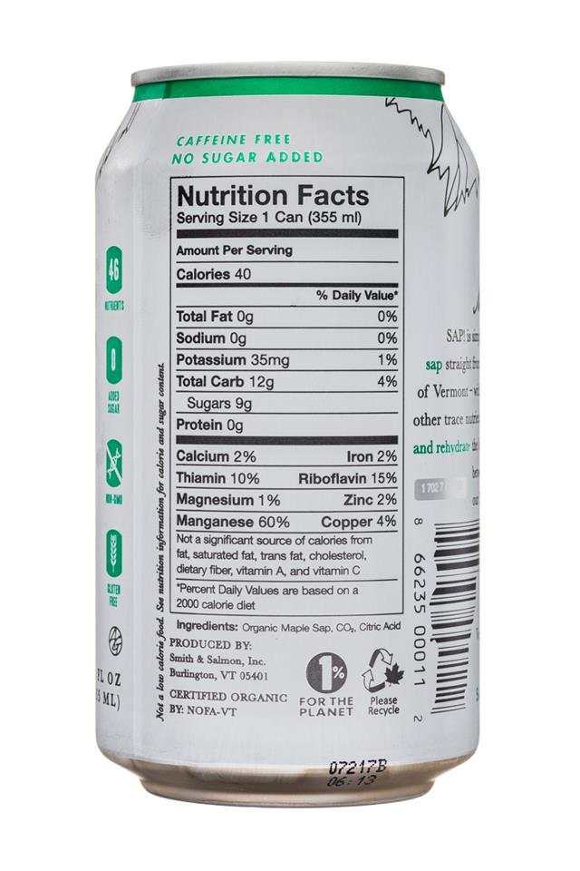 SAP!: Sap-12oz-MapleSeltzer-Facts