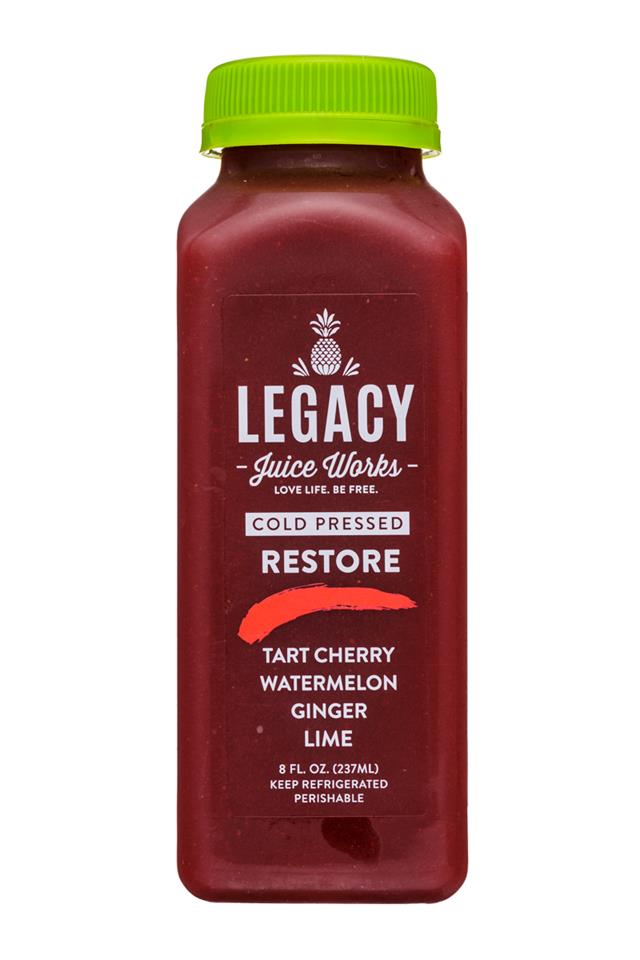 Legacy Juice Works: Legacy-8oz-ColdPressed-Restore-Front