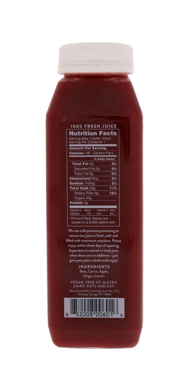Saratoga Juice Bar: Saratoga HeartBeet Facts
