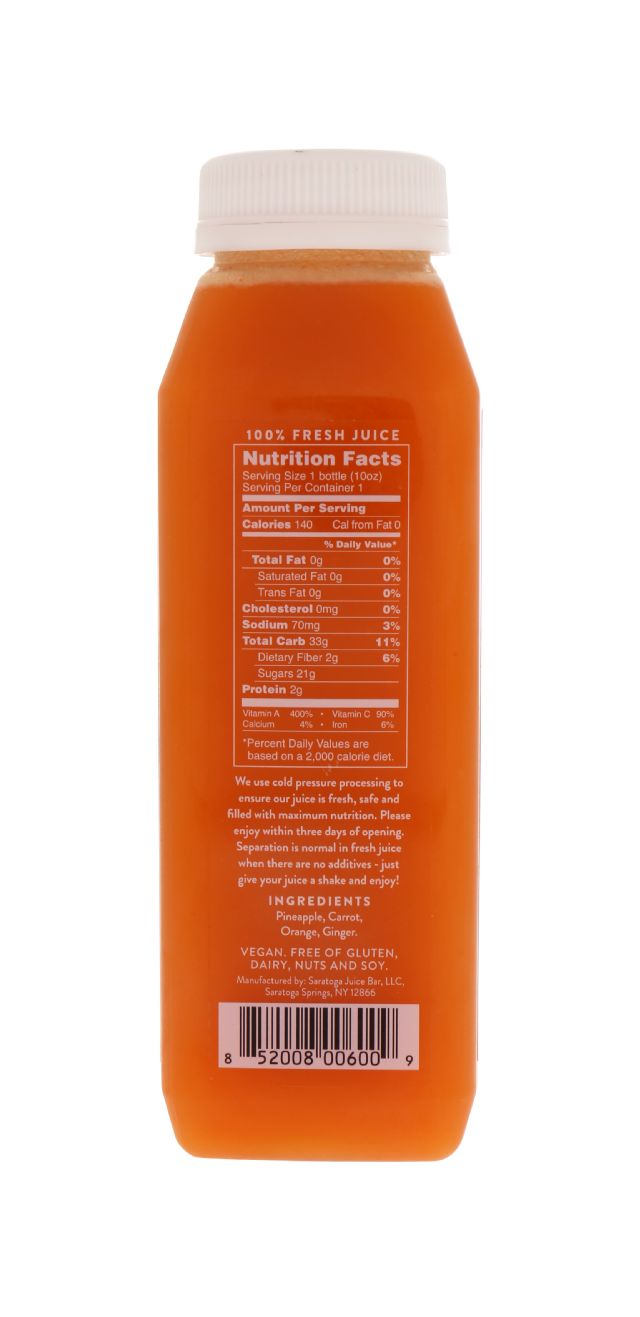 Saratoga Juice Bar: Saratoga Detox Facts