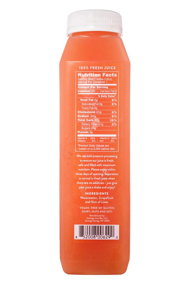 Saratoga Juice Bar: Saratoga-12oz-ColdPressed-MelonBreeze-Facts