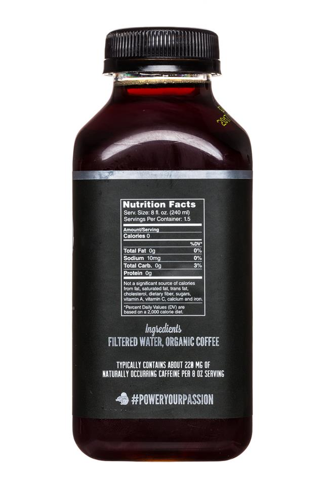 Secret Squirrel Cold Brew Coffee: SecretSquirrel-ColdBrew-12oz-Organic-Black-Facts