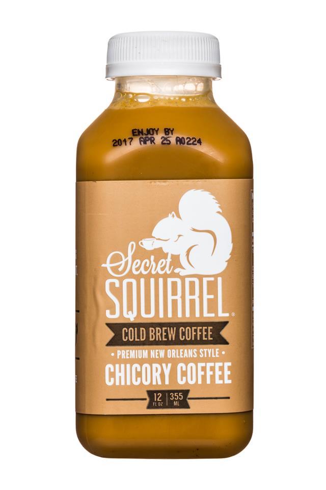 Secret Squirrel Cold Brew Coffee: SecretSquirrel-ColdBrew-12oz-ChicoryCoffee-Front