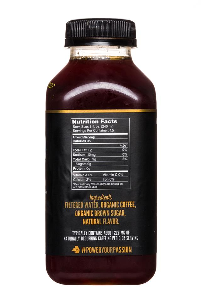Secret Squirrel Cold Brew Coffee: SecretSquirrel-ColdBrew-12oz-Organic-Black-MapleBrownSugar-Facts