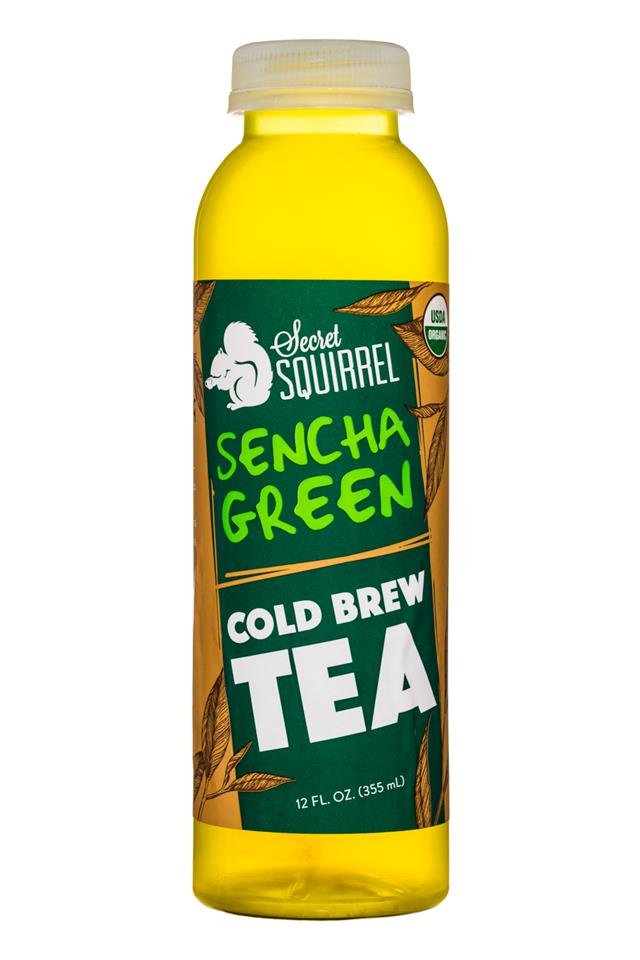 Secret Squirrel Cold Brew Coffee: SecretSquirrel-ColdBrewTea-12oz-SenchaGreen-Front