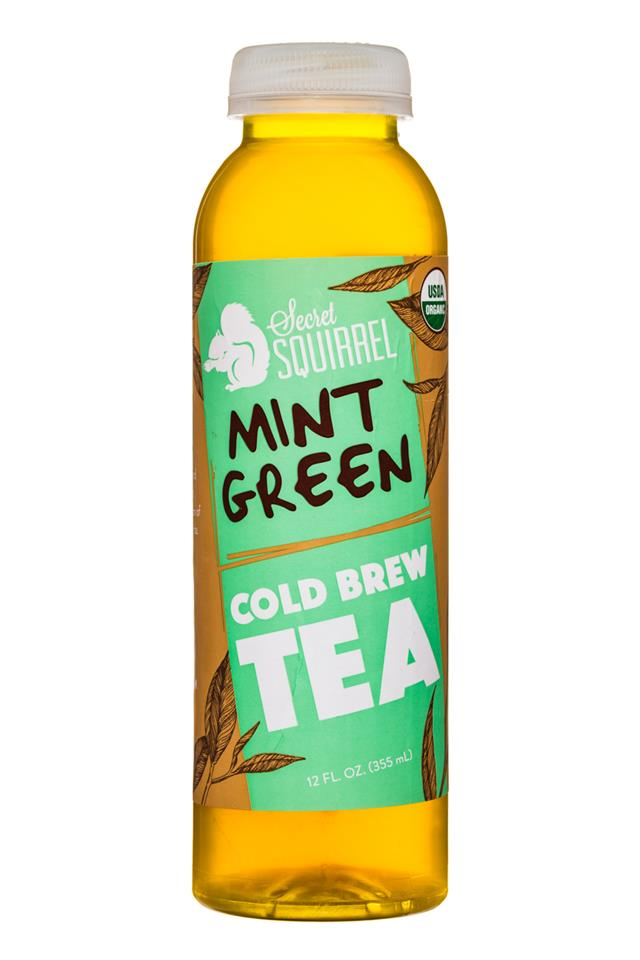 Secret Squirrel Cold Brew Coffee: SecretSquirrel-ColdBrewTea-12oz-MintGreen-Front