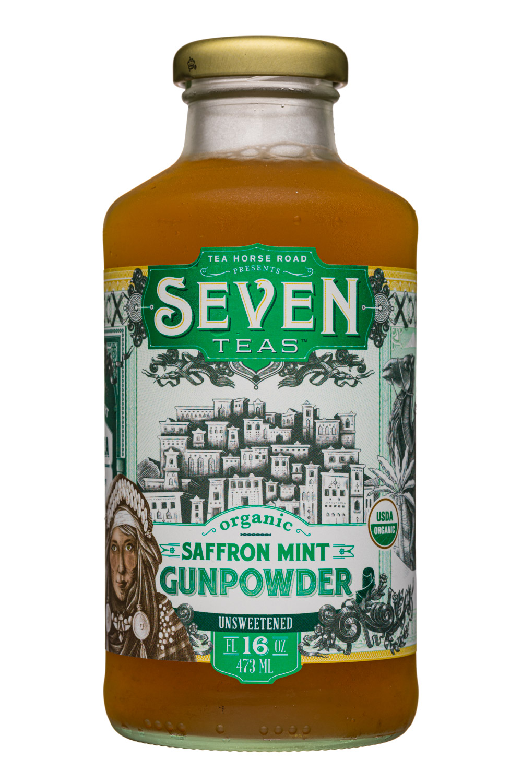 Organic Saffron Mint Gunpowder