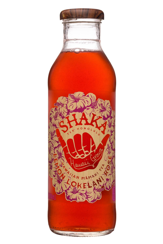 Shaka Tea: Shaka-14oz-MamakiTea-LemonLokelaniRose-Front