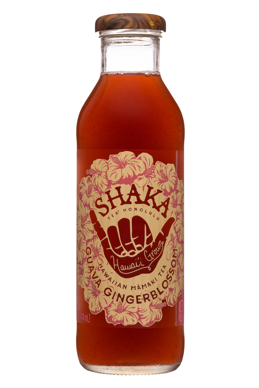 Shaka Tea: Shaka-14oz-MamakiTea-GuavaGingerblossom-Front