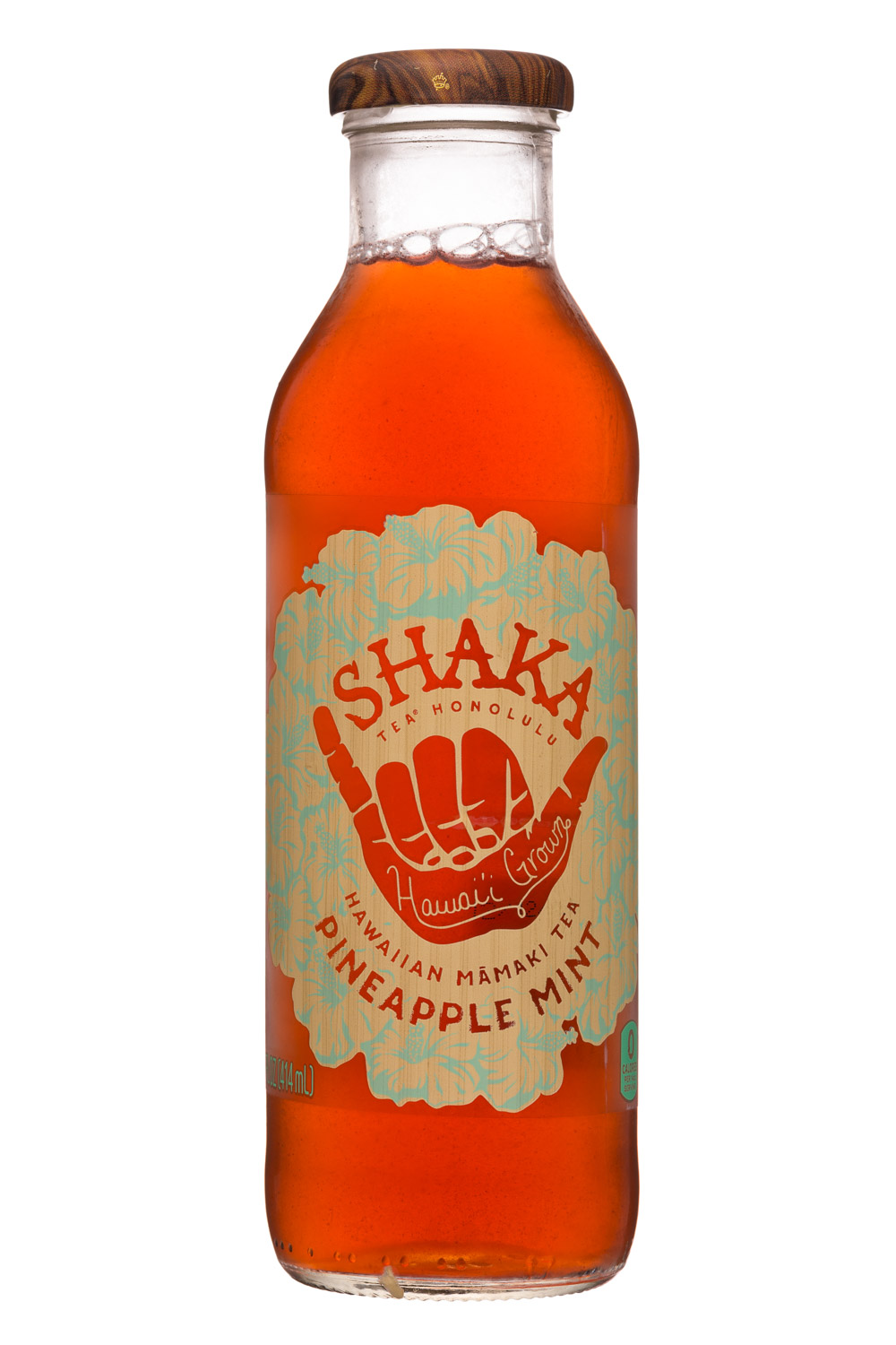 Shaka Tea: Shaka-14oz-MamakiTea-PineappleMint-Front