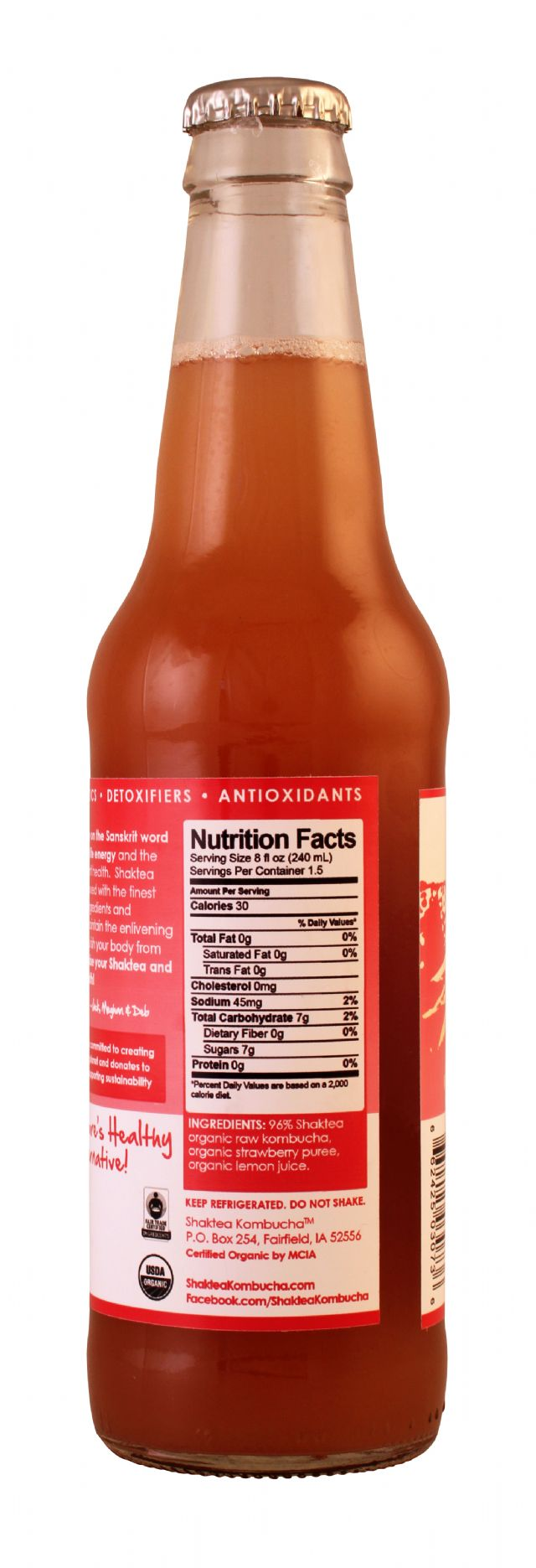 Shaktea Kombucha: ShakteaKom Strawberry Facts