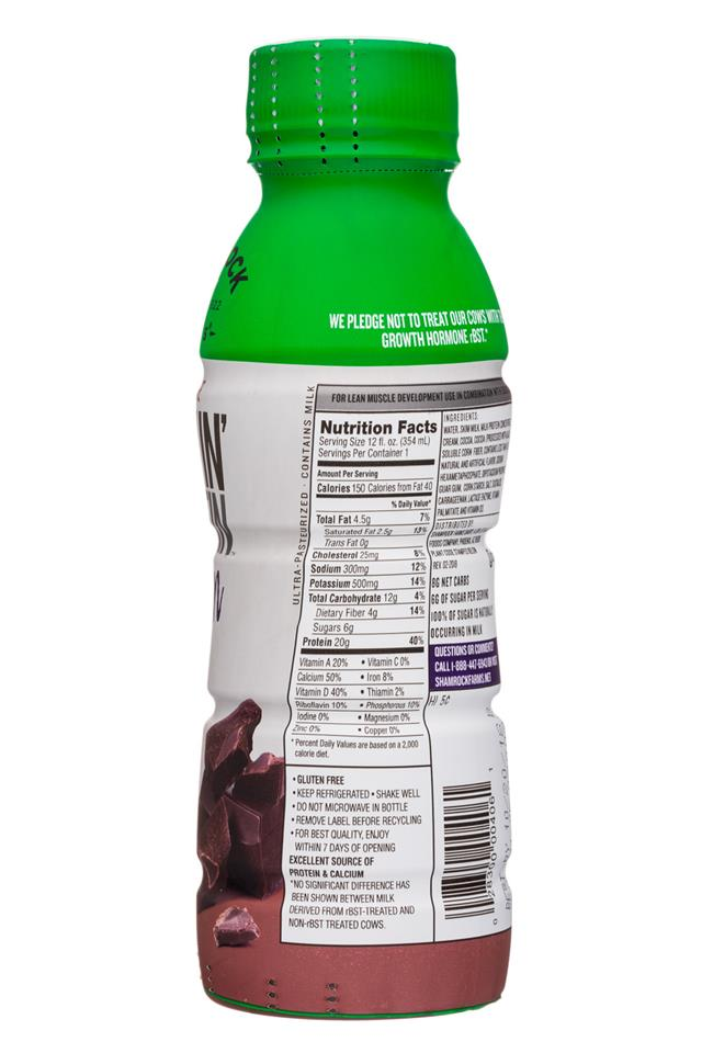 Shamrock Farms: ShamrockFarms-12oz-RockinProtein-Choc-Lean-Facts