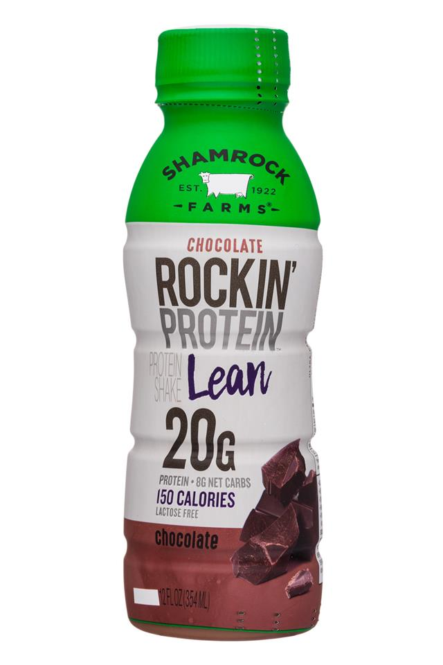 Shamrock Farms: ShamrockFarms-12oz-RockinProtein-Choc-Lean-Front