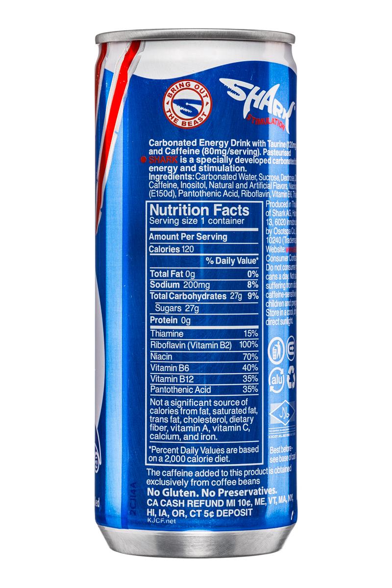 Shark Energy Drink: SharkStimulation-8oz-EnergyDrink-Back