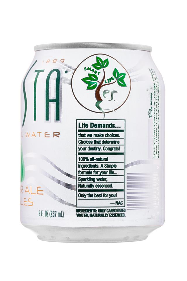 Shasta Sparkling Water: Shasta-8oz-SparklingWater-GingerAleGiggles-Facts