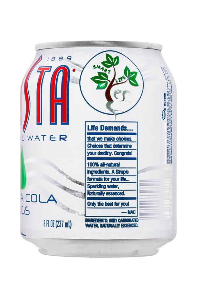 Shasta Sparkling Water: Shasta-8oz-SparklingWater-ShastaColaHugs-Facts