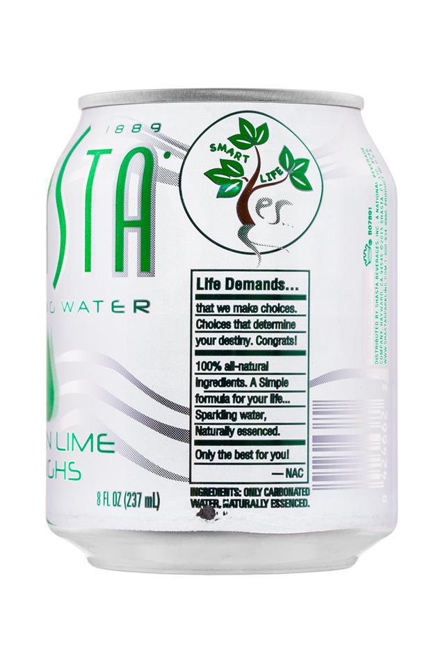 Shasta Sparkling Water: Shasta-8oz-SparklingWater-LemonLimeLaughs-Facts