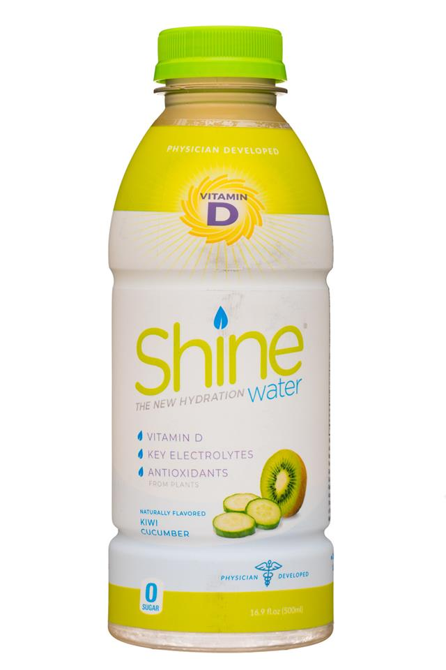 Shine H2O: ShineWater-17oz-KiwiCuc-Front