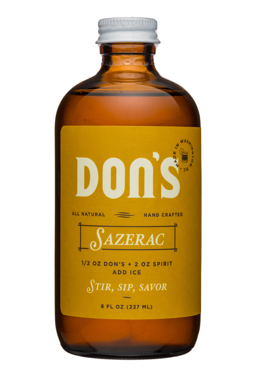 Shrub District: Dons-8oz-Sazerac-Front