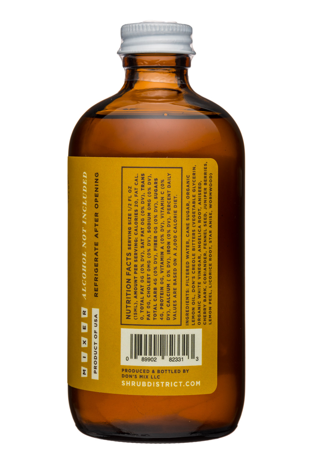 Shrub District: Dons-8oz-Sazerac-Facts
