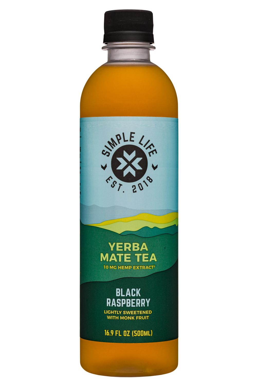 Yerba Mate Tea - Black Raspberry (10mg Hemp Extract)