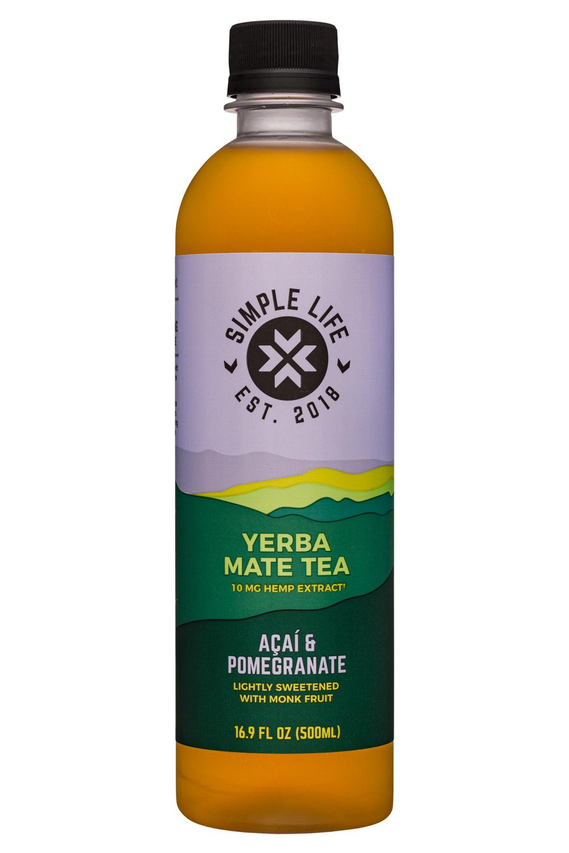Yerba Mate Tea - Acai & Pomegranate (10mg Hemp Extract)