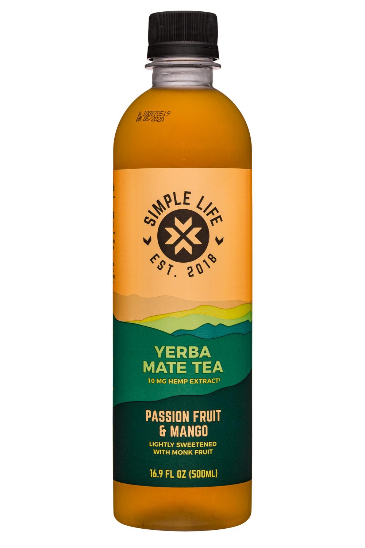 Yerba Mate Tea - Passion Fruit & Mango (10mg Hemp Extract)
