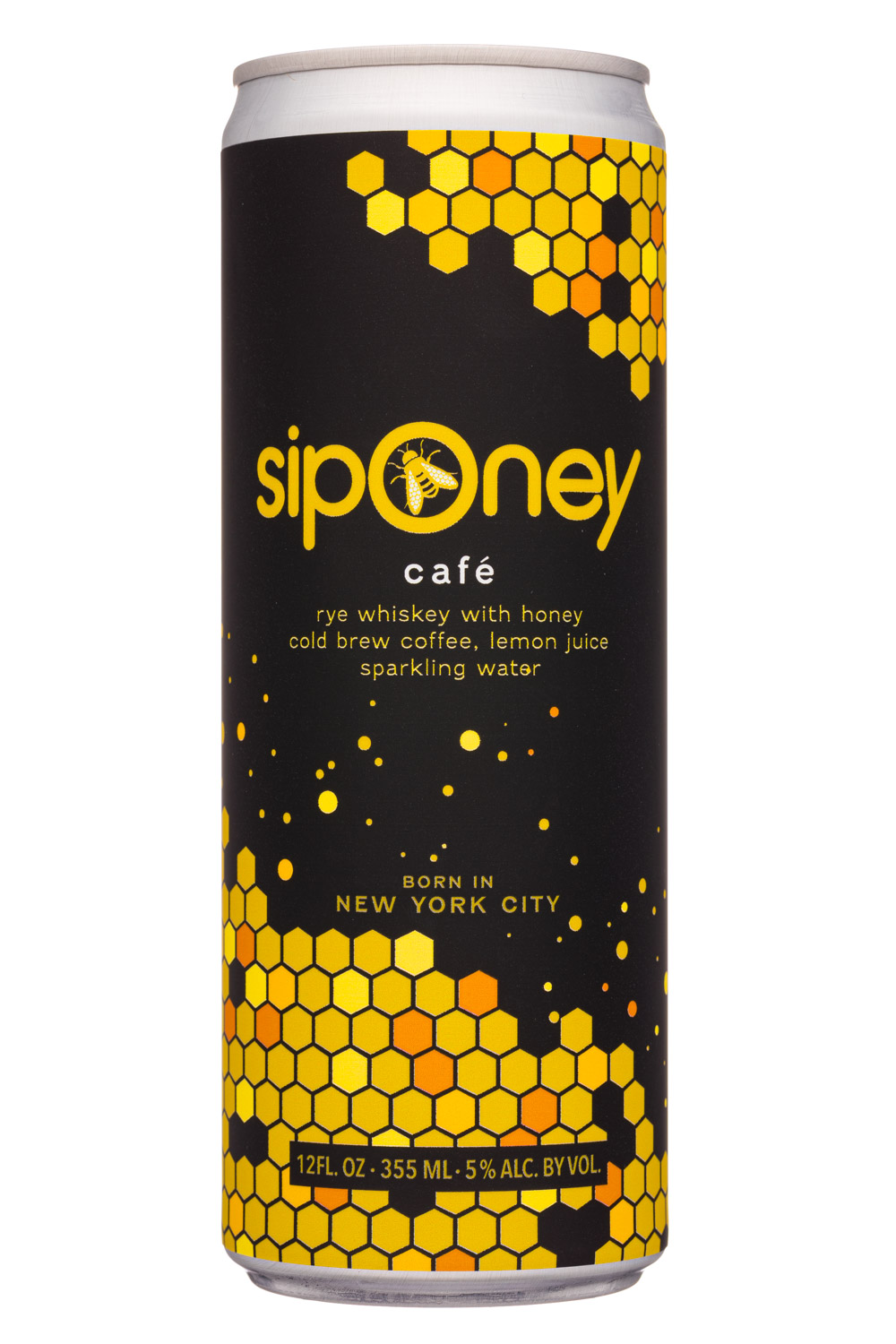 Cafe: Rye Whiskey with Honey Cold Brew Coffee, Lemon Juice Sparkling Water